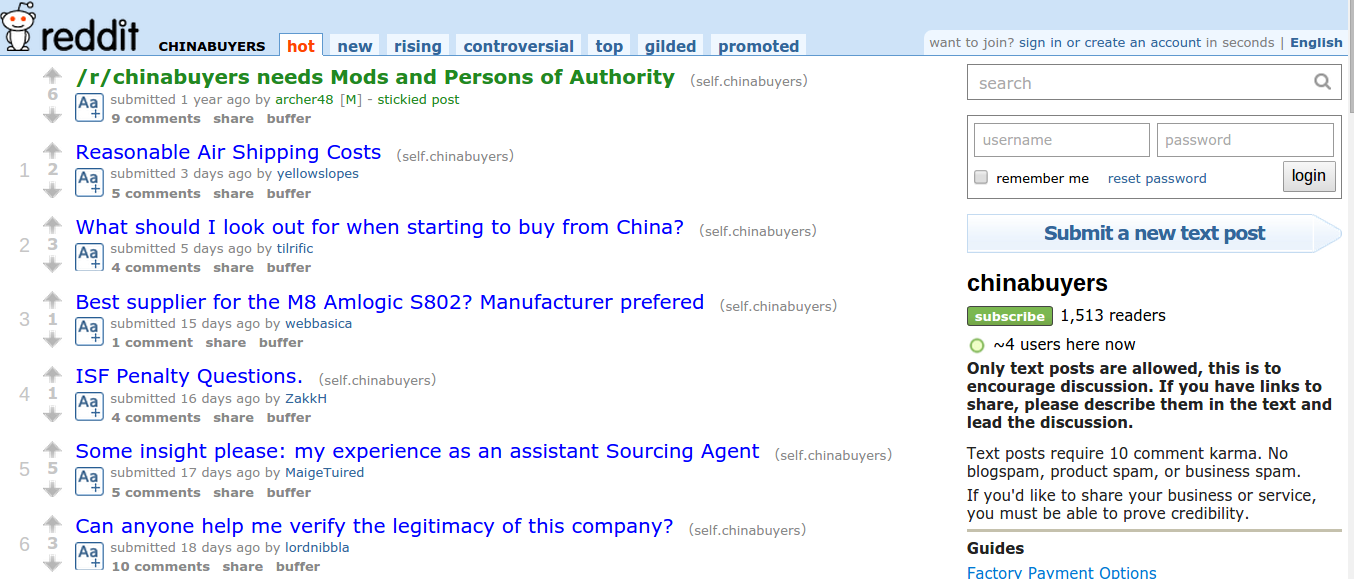 China Importing Resources Chinabuyers