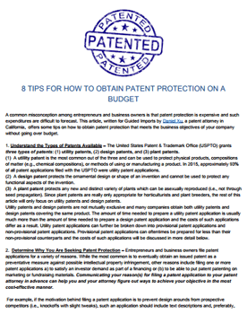 8-Tips-For-How-To-Obtain-Patent-Protection-On-a-Budget